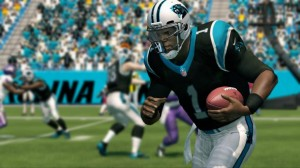 Madden NFL 25 screenshot of Cam Newton, posted by Madden NFL Creative Director, Michael Young on Twitter.