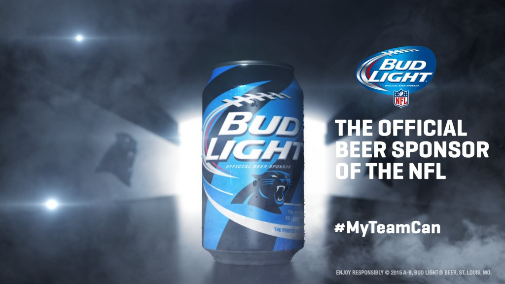Carolina Panthers Bud Light Can